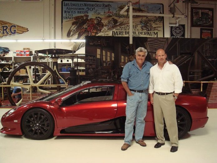 SSC North America Ultimate Aero with Jay Leno and founder Jerod Shelby