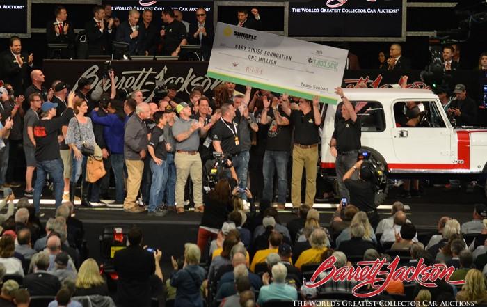 Sunbelt Rentals - $1,000,000 check to Gary Sinise Foundation