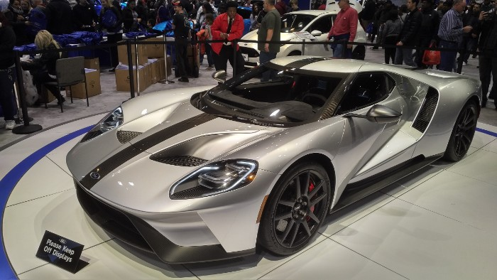 2018 Ford GT - front side view