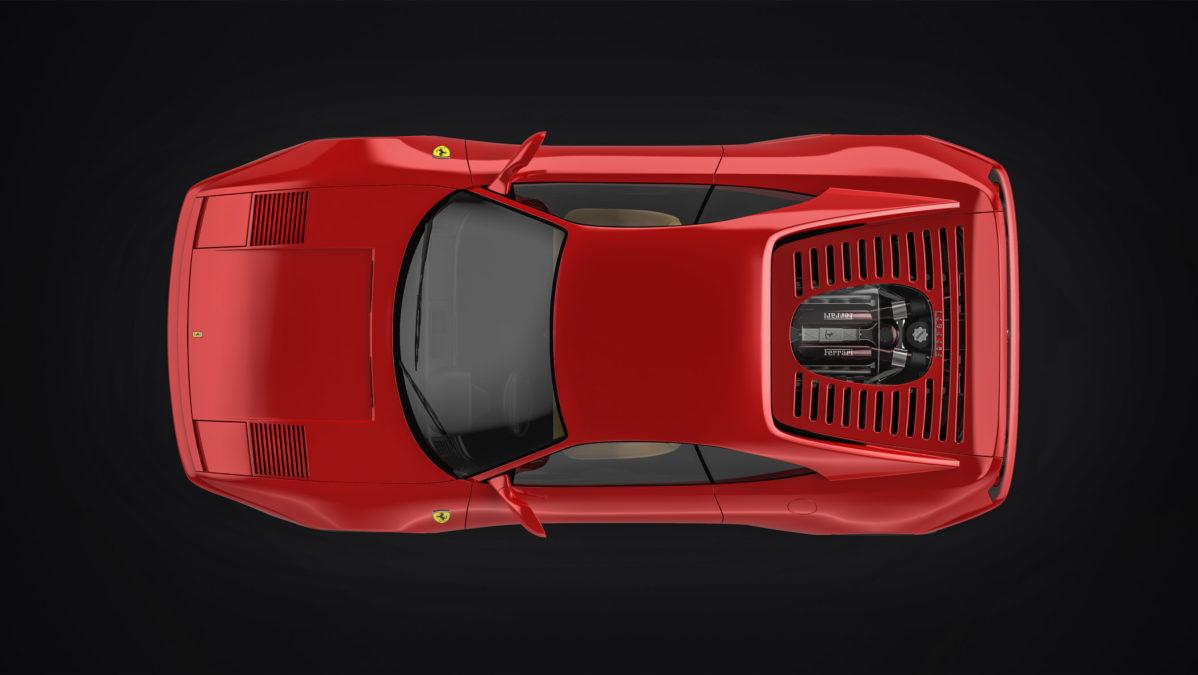 Custom Ferrari 348 - top view