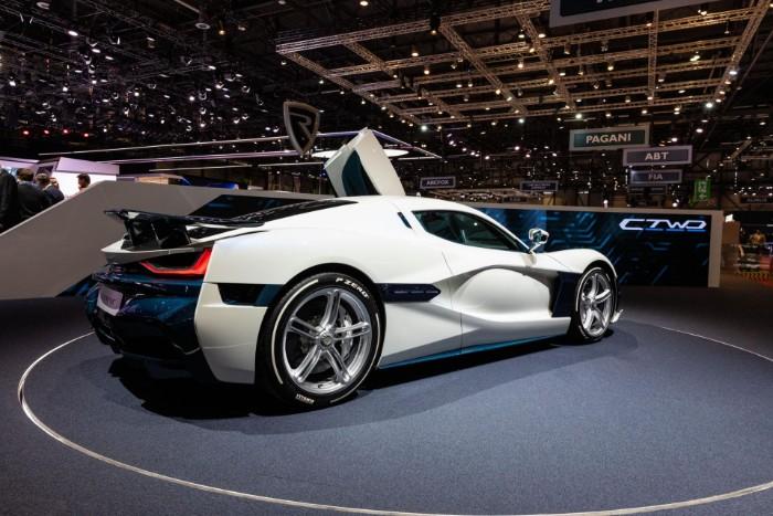 Rimac Concept Two EV Hypercar - rear side view