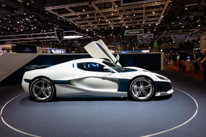Rimac Concept Two EV Hypercar - side view