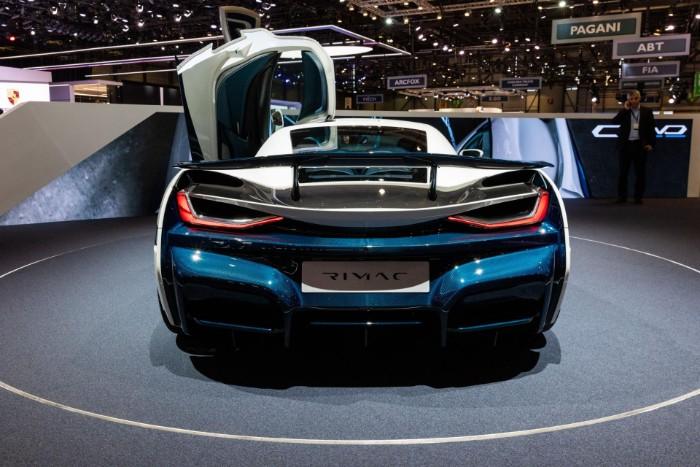 Rimac Concept Two EV Hypercar - rear view