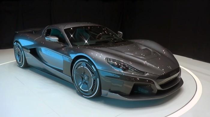 Rimac Concept Two EV Hypercar - front side view