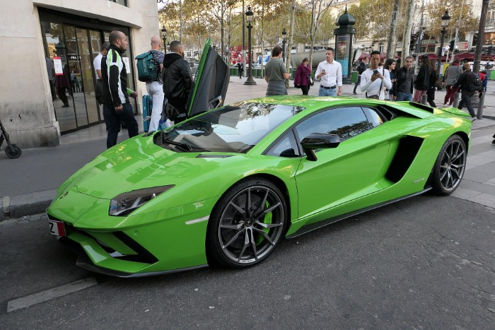 Lamborghini Aventador S parked in the street
