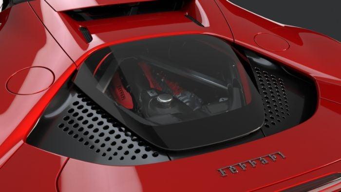 Ferrari SF 90 Stradale - engine view