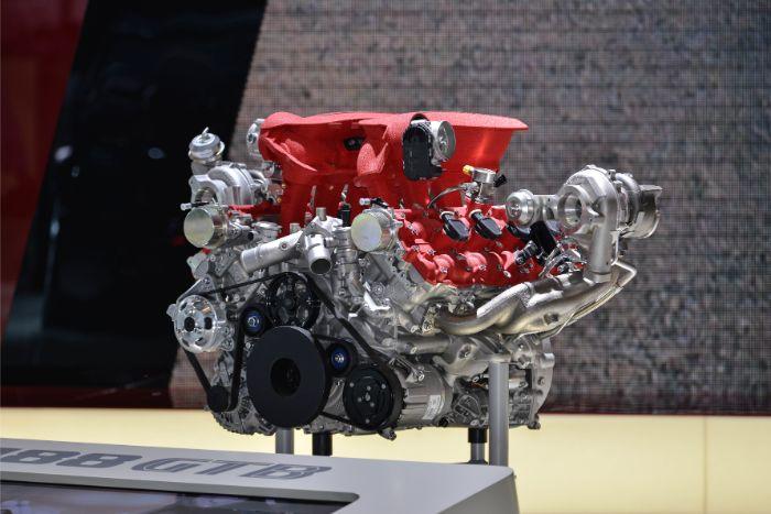 F154 CB engine in Ferrari 488 GTB