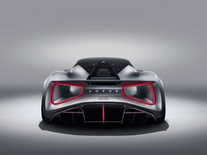Lotus Evija fully-electric hypercar - rear