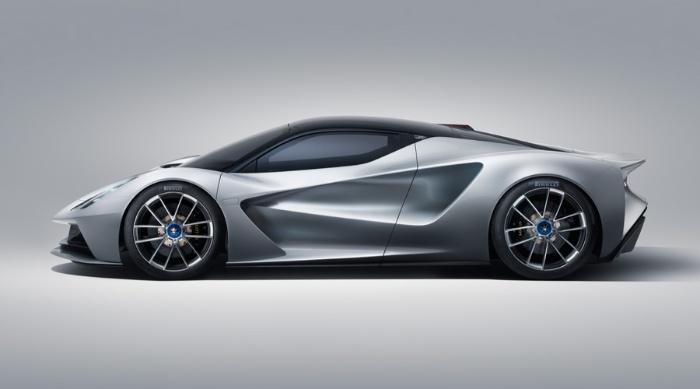 Lotus Evija fully-electric hypercar - side