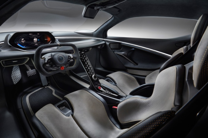 Lotus Evija fully-electric hypercar - interior