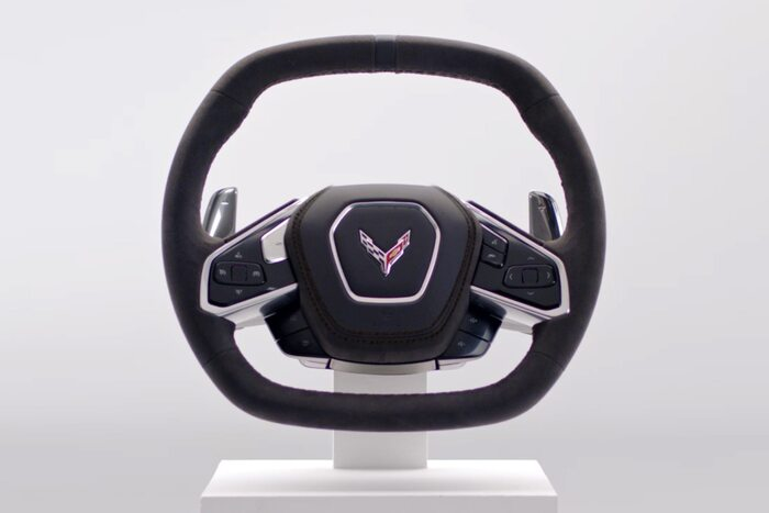 Chevy Released an Official Image of the C8 Corvette's Steering Wheel