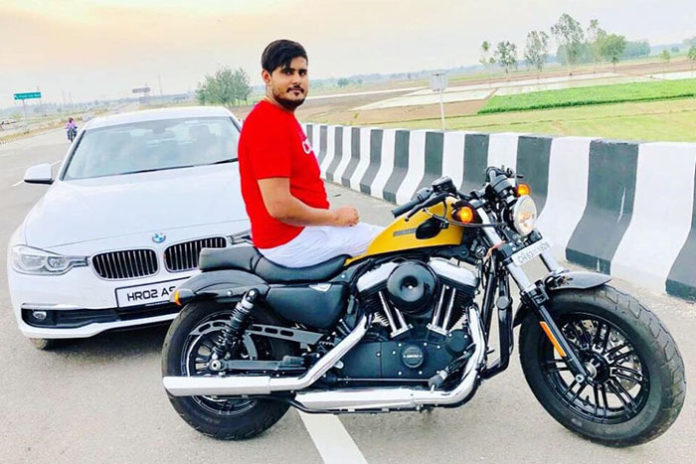 Akash, 22 years old, owns a number of vehicles and apparently a motorcycle