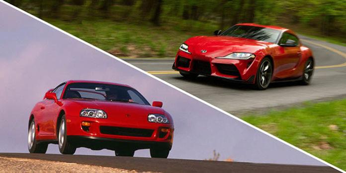Old vs New Toyota Supra red