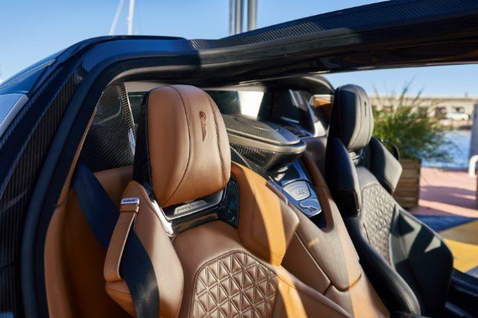The Pininfarina Battista EV Hypercar interior