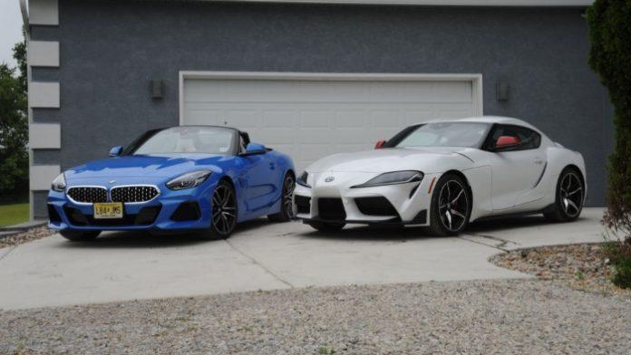 2020 BMW Z4 and Toyota Supra side by side