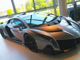 The Lamborghini Veneno is one of the world's most expensive handcrafted luxury cars.