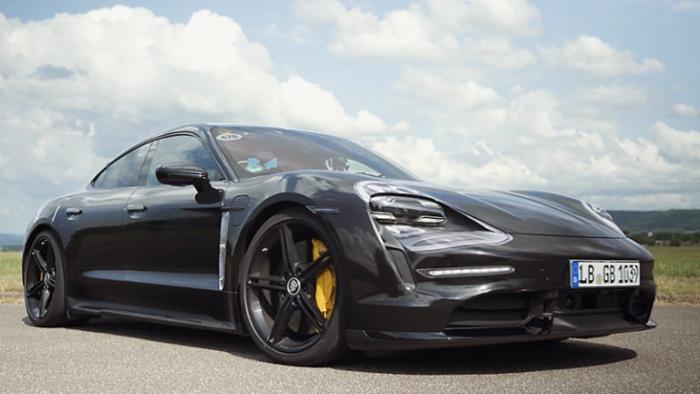 Porsche Taycan EV front view