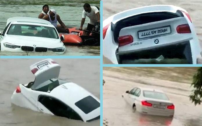 Sunken BMW captured by witnesses
